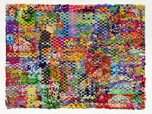 Goods, Guns, & Germs, paper construct, 36x48