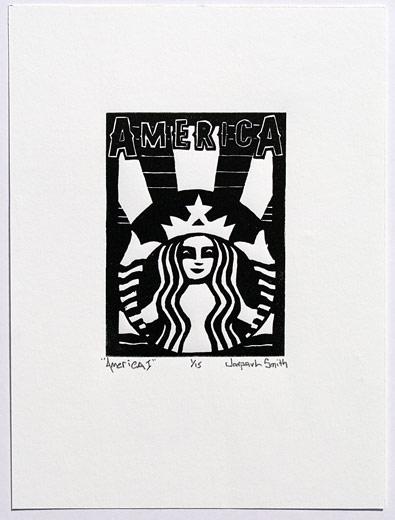 America I, 6x8, relief