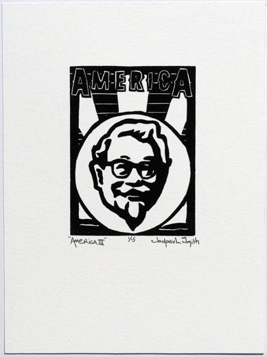 America III, 6x8, relief