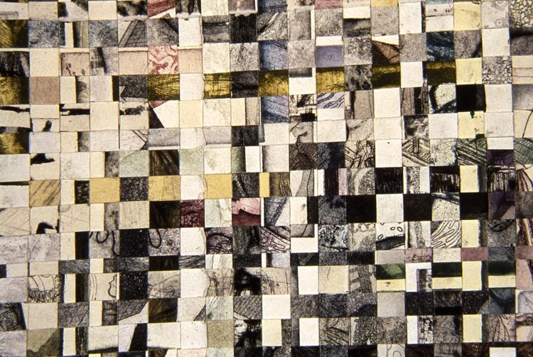 Scrape Plate Intaglio (detail), intaglio, 6x9ft