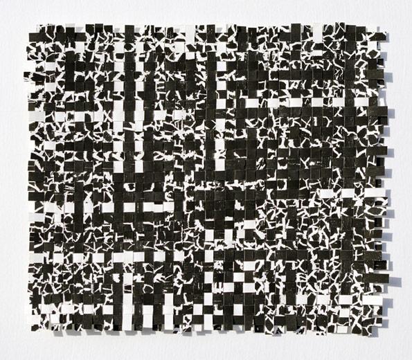 Woven Doily woodcut II, 8.5x9.5, woodcut