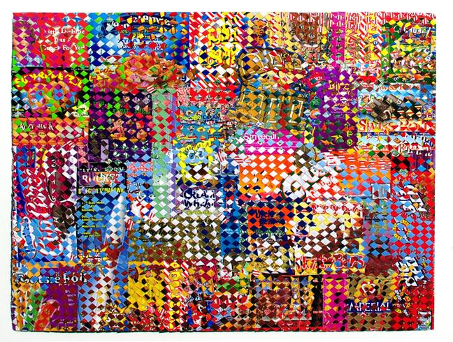 5 Wild West, paper construct, 38x50in, Jonpaul Smith
